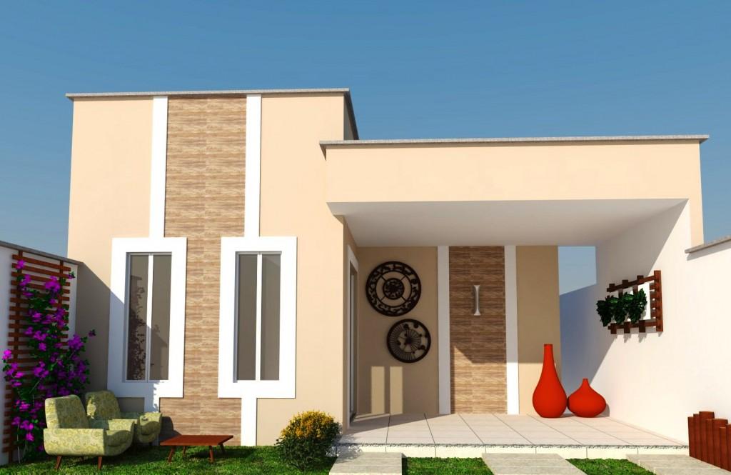 7 modelos de fachadas com jardim for Modelos de fachadas de casas