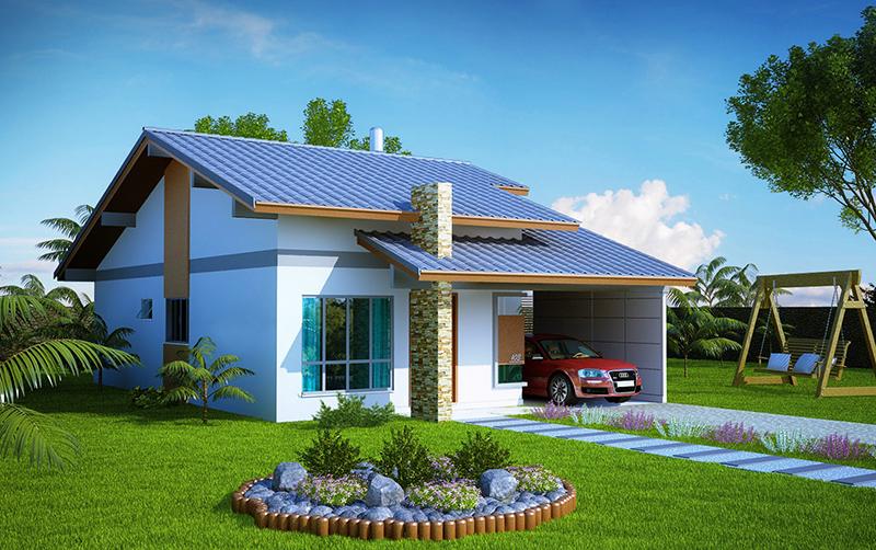 7 modelos de fachadas com jardim