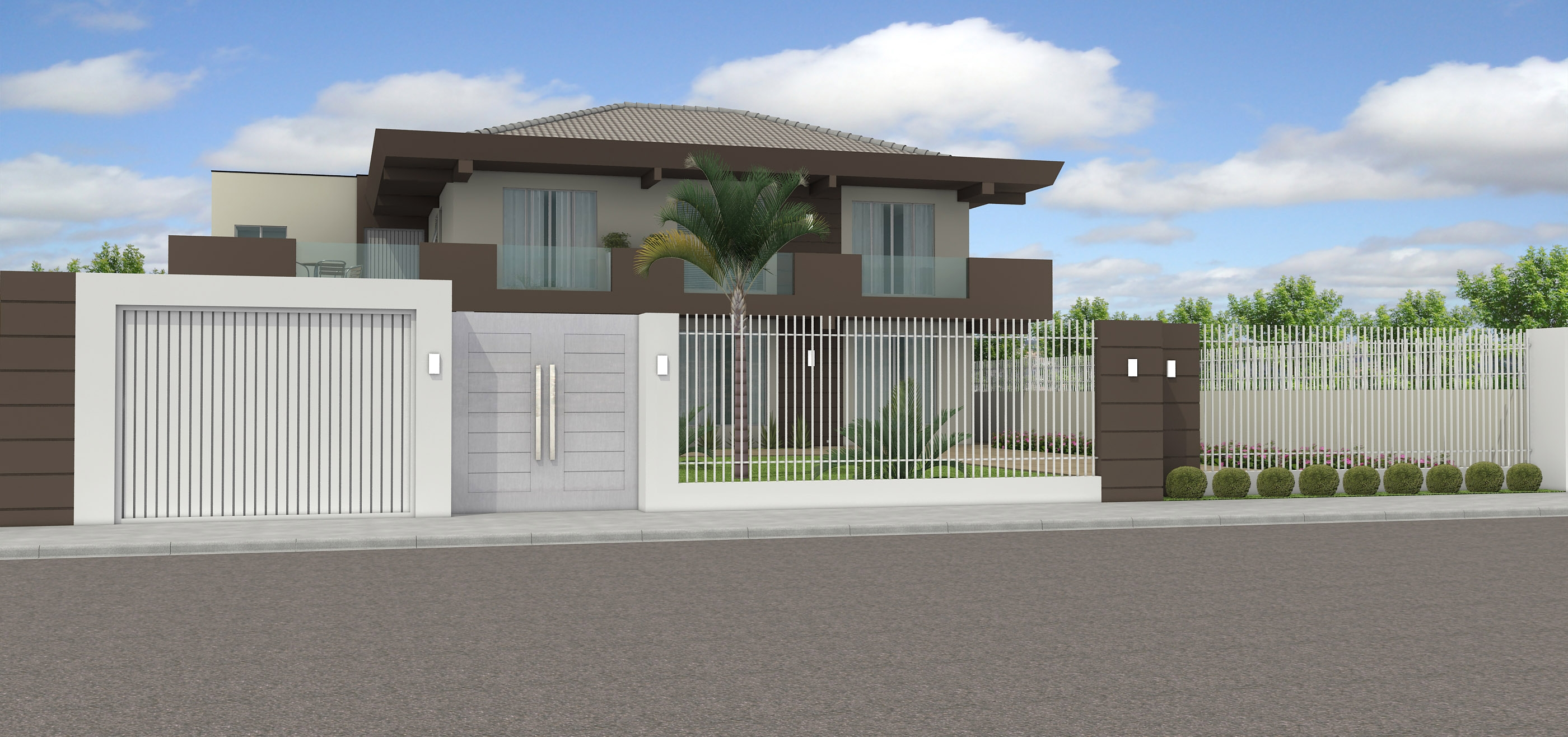 15 muros modernos para casas for Casas modernas 2015