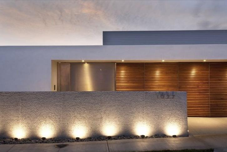 Compound Wall Lights Images : 15 muros modernos para casas