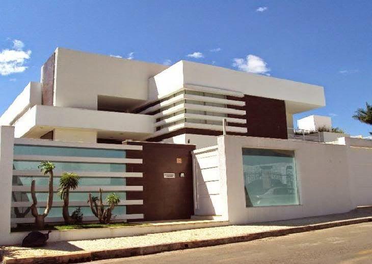 15 muros modernos para casas for 30 fachadas de casas modernas dos sonhos