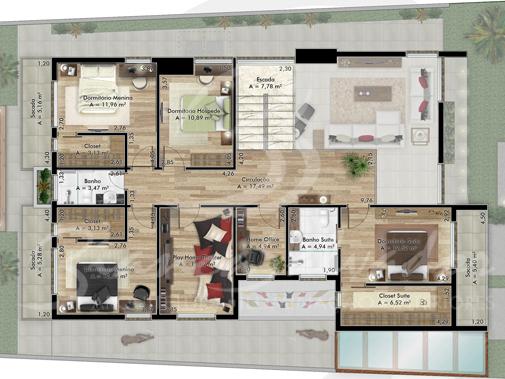 Plantas de casas contempor neas 7 modelos for Casas contemporaneas de una planta