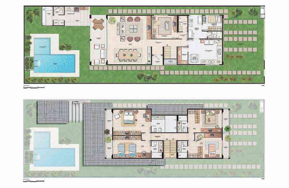 7 modelos de casas de campo plantas for Modelos de casas de campo de una planta