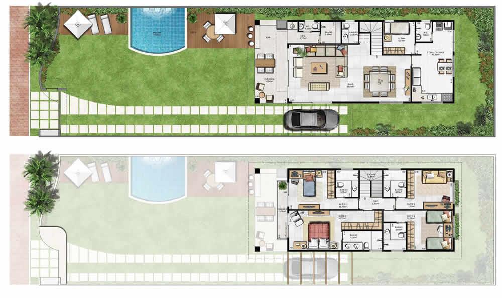 7 modelos de casas de campo plantas - Plantas para casas ...