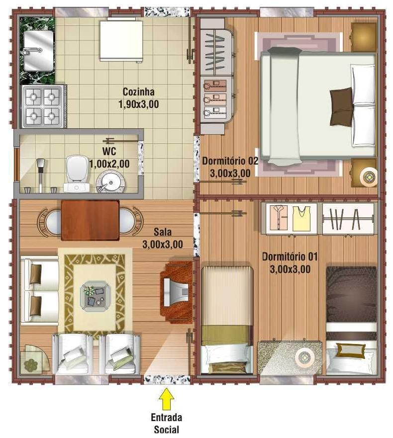 9 projetos de casas pequenas