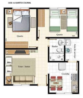 9 projetos de casas pequenas planta baixa for Modelo de casa pequena para construir