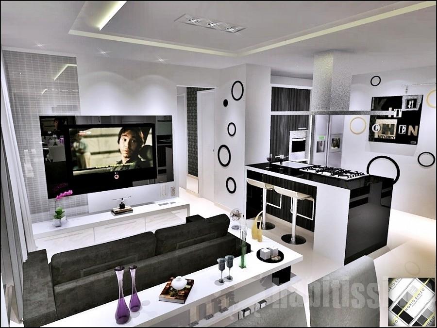 Cozinha com sala 2