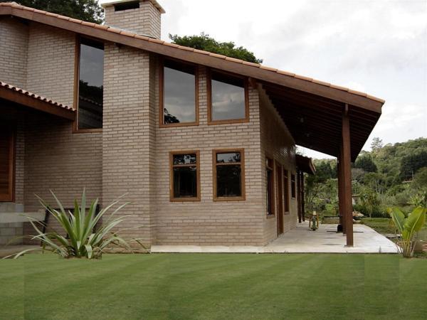20 modelos de casas com tijolinho a vista