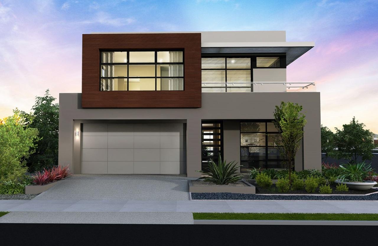 38 casas modernas para inspirar for Casa moderna l