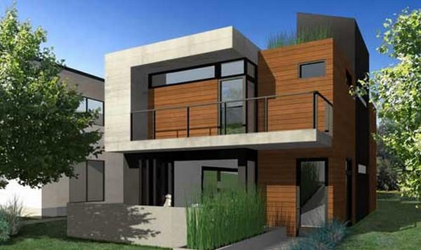 38 casas modernas para inspirar for Casas duplex modernas