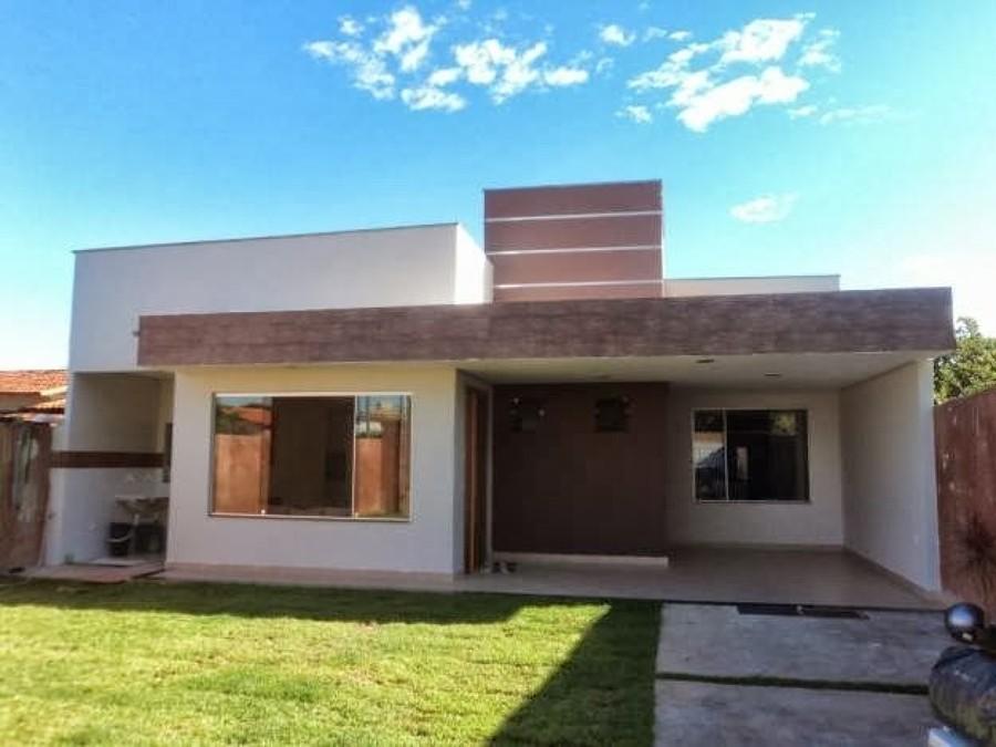 38 casas modernas para inspirar for Casa moderna 4 ambientes