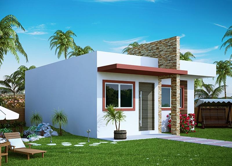 Casas quadradas modernas pequenas bella casa criar for Frente casa moderna
