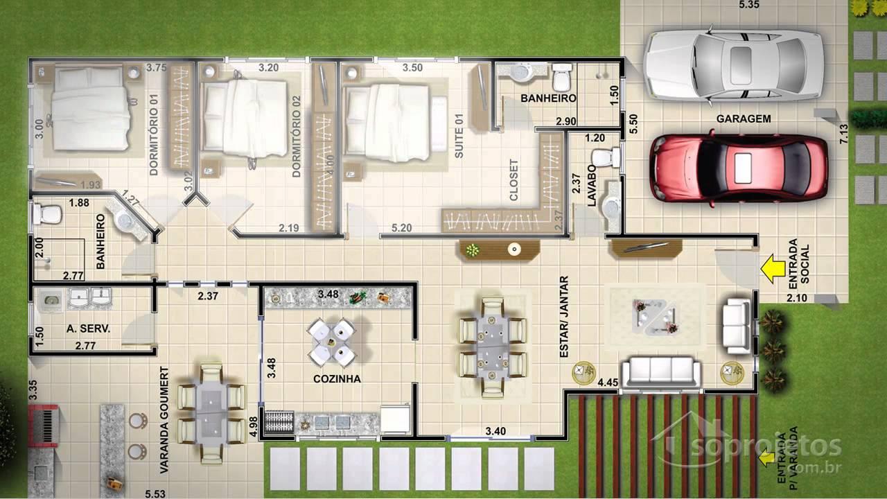10 modelos de casas de veraneio plantas projetos for Casa moderna 7x15