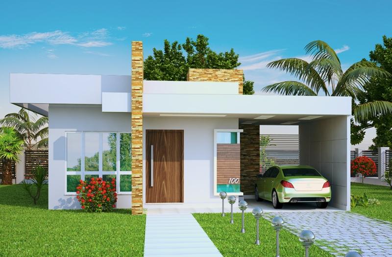 53 modelos de casas com laje for Modelo de casa x dentro