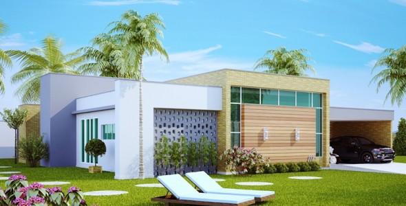 53 modelos de casas com laje for Modelos planos de casas para construir