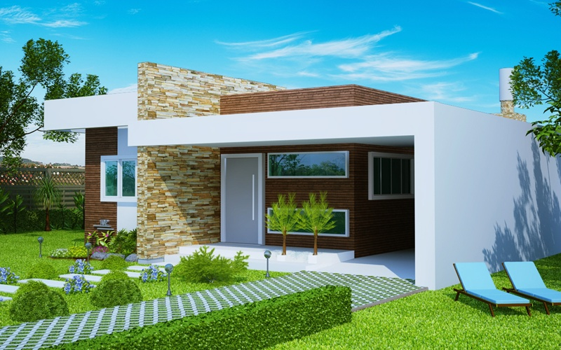 53 modelos de casas com laje for Modelos casas modernas para construir