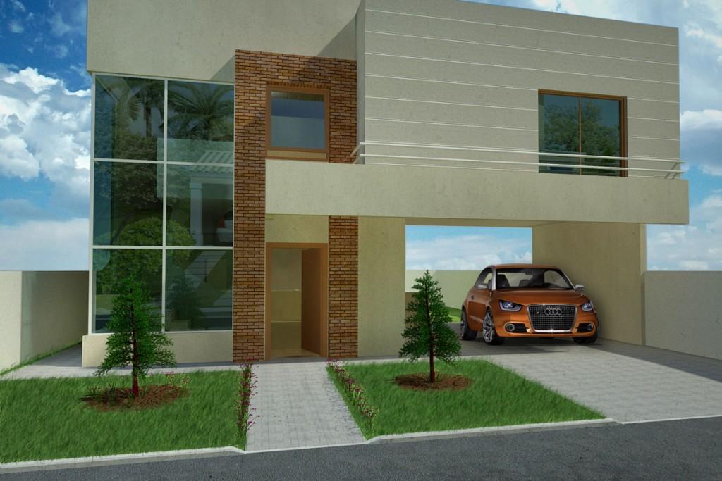 35 modelos de casas para construir for Modelo de fachadas de viviendas
