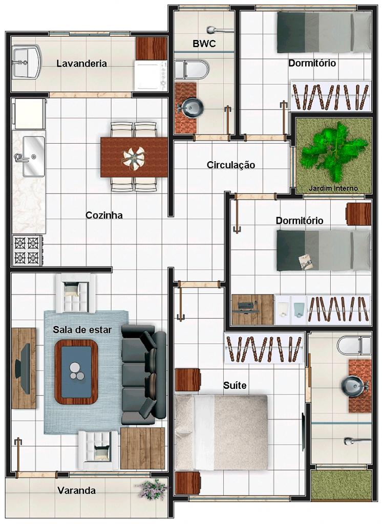 35 modelos de planta baixa minha casa minha vida 2019 for Casa moderna minimalista interior 6m x 12 50 m