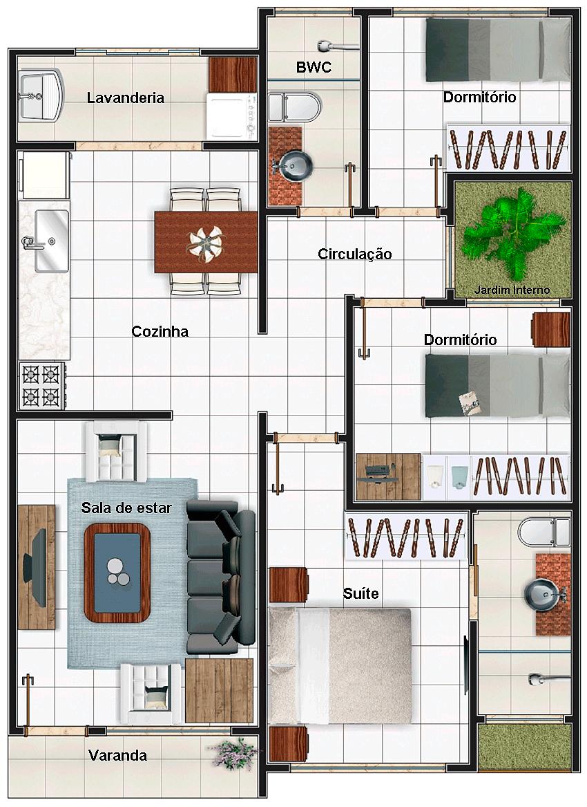 35 modelos de planta baixa para minha casa minha vida for Casas minimalistas 180m2