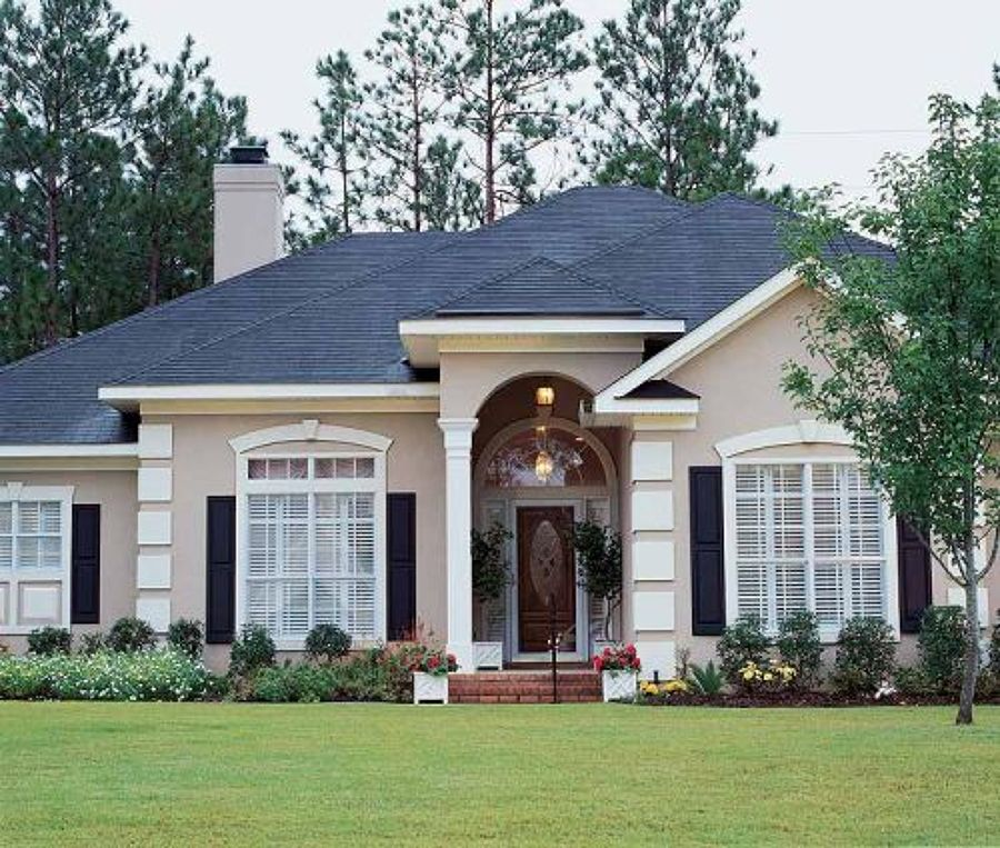 Plantas e modelos de casas estilo americano 17 modelos for Modelos jardines para casas pequenas