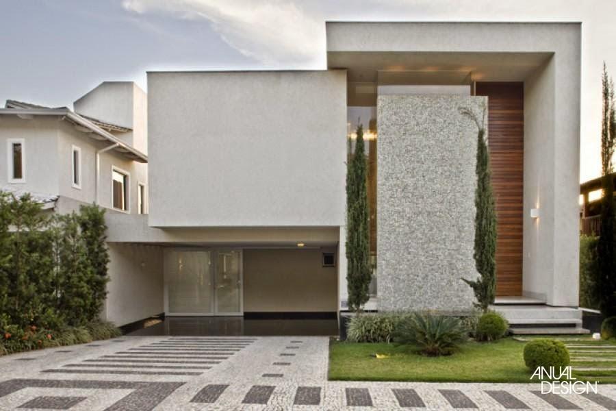 35 modelos de fachadas decoradas com pedras for Fachadas de garajes modernos
