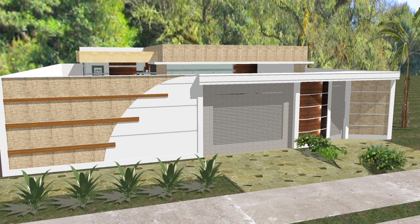 49 modelos de muros e fachadas residenciais - Ceramica para fachadas casas ...