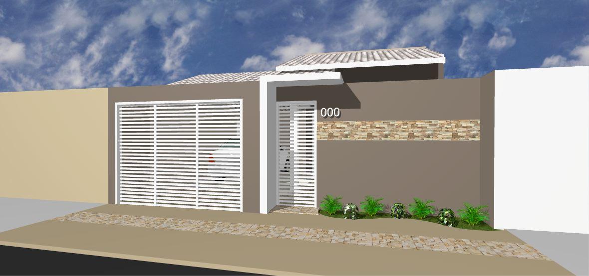 49 modelos de muros e fachadas residenciais for Modelos de fachadas modernas