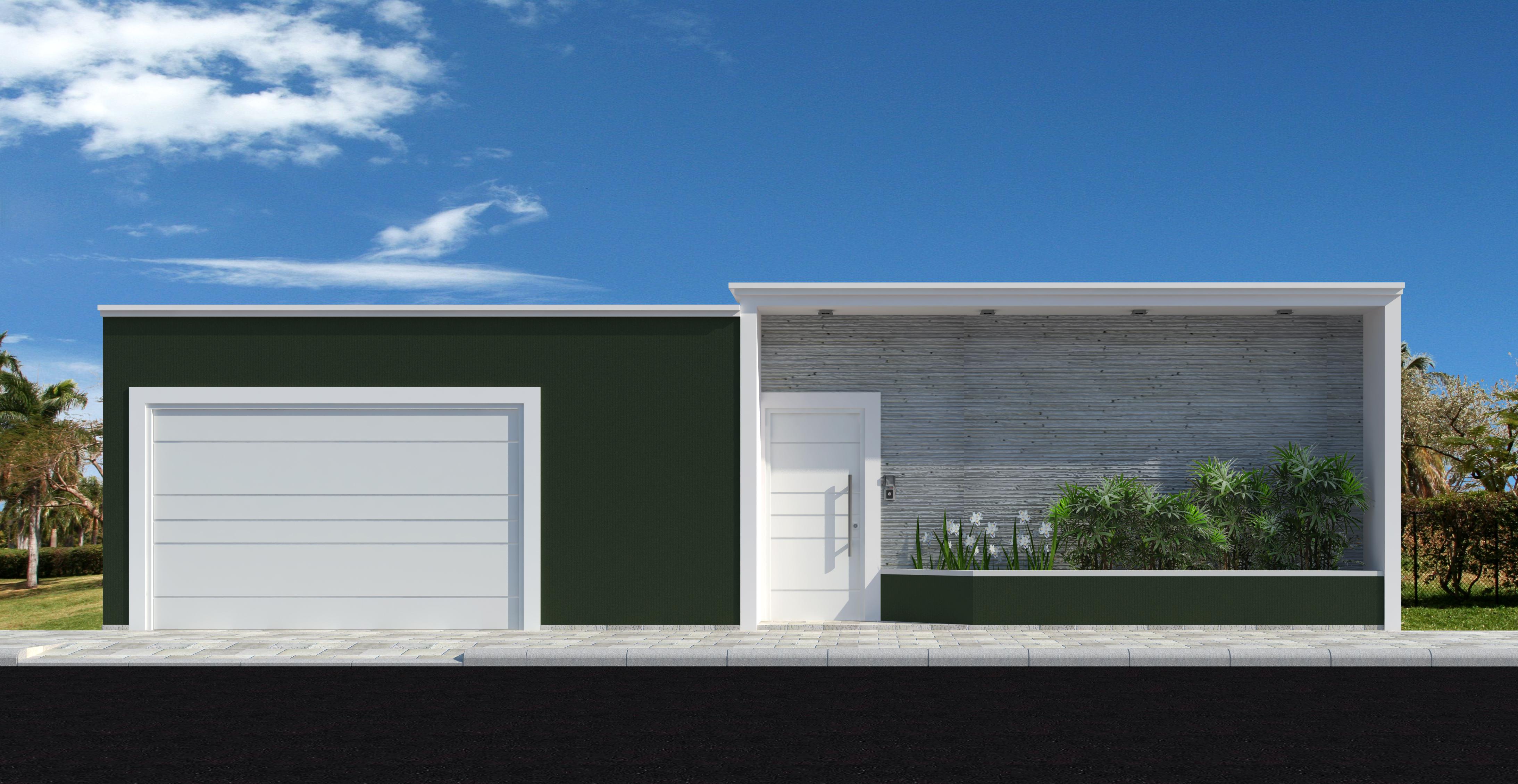 49 modelos de muros e fachadas residenciais for Modelos de fachadas para frentes de casas
