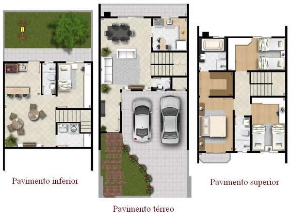 Plantas De Casas Com Escada 15 Modelos