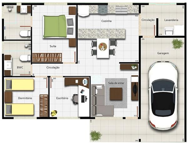 12 modelos de casas com garagem na planta
