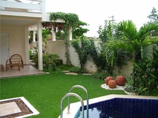 100 fotos de jardins de casas para inspirar for Jardines pequenos para casas pequenas