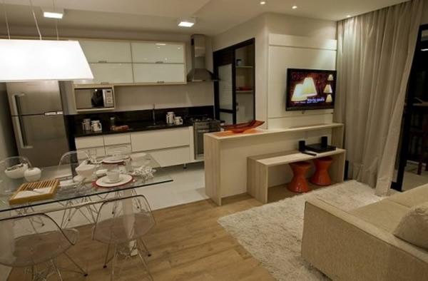 Sala e cozinha conjugada 16