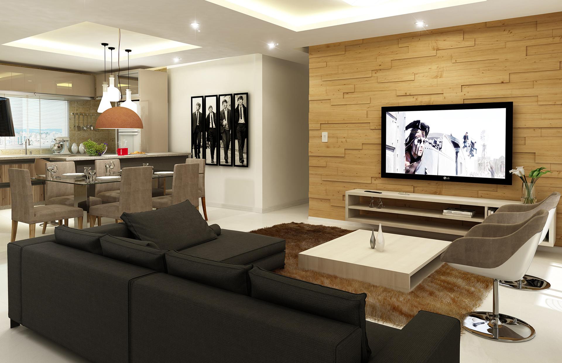 Cozinha americana pequena fotos e modelos incr veis for Modelos de espejos para salas modernas