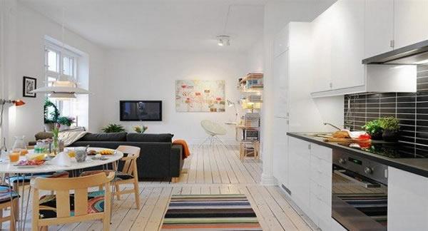 Sala e cozinha conjugada 19
