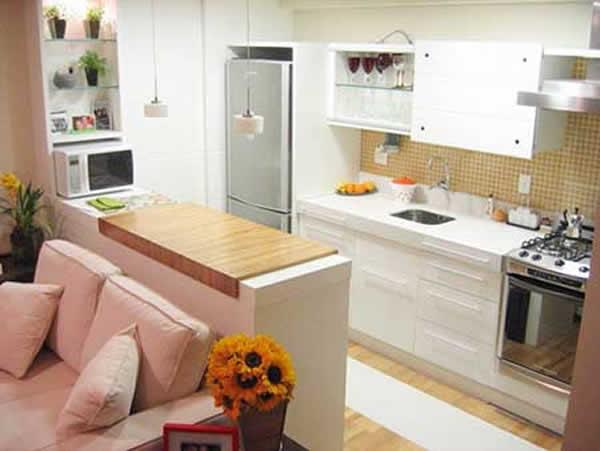 Cozinha americana pequena 33 modelos incr veis for Modelo de casa de 4x6