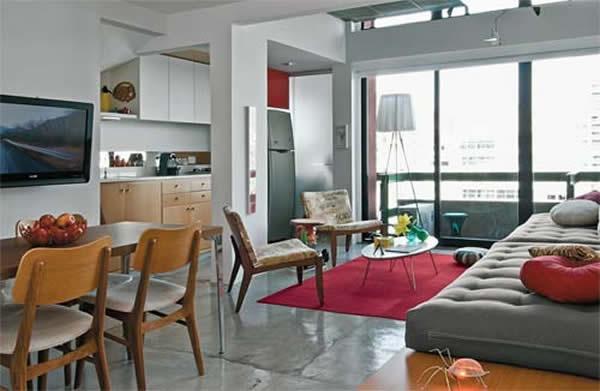 Sala e cozinha conjugada 28
