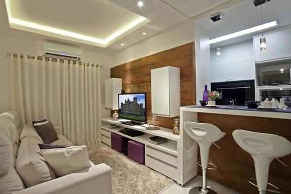 cozinha americana pequena fotos e modelos incr veis. Black Bedroom Furniture Sets. Home Design Ideas