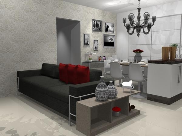Sala e cozinha conjugada 6
