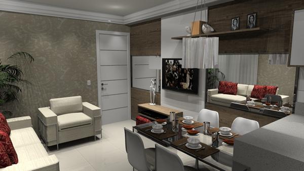 Sala e cozinha conjugada 9