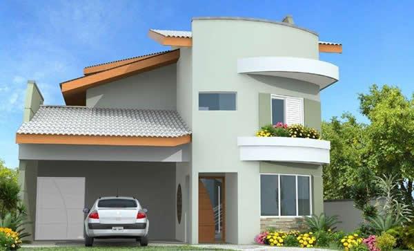 14 modelos de sobrados modernos plantas fachadas for Modelos de fachadas para frentes de casas