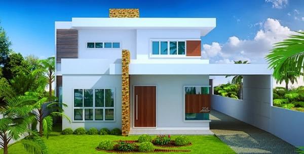 14 modelos de sobrados modernos plantas fachadas for Casa moderna 10 x 10 minecraft
