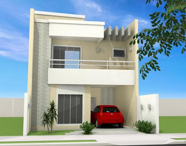 30 modelos de sobrados pequenos for Aberturas para casas modernas