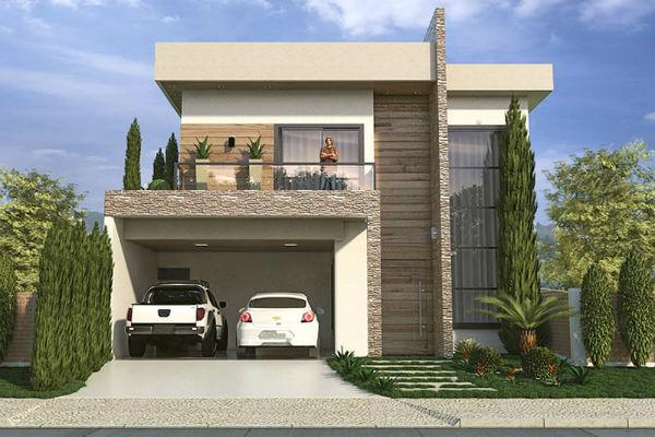 Sobrados pequenos 30 modelos de plantas com fotos for Fachadas de casas modernas 1 pavimento