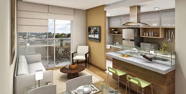 Cozinha com sala 10