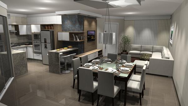 Cozinha com sala 14