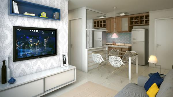 Cozinha com sala 15