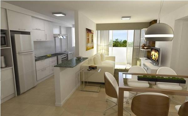 Cozinha com sala 4