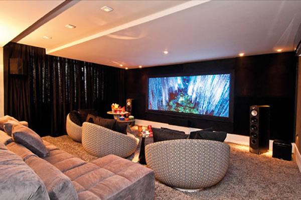 10 salas de cinema em casa como fazer - Sala cinema in casa ...