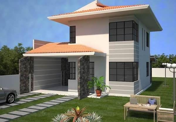 Fachadas de casas 2018 100 modelos para lhe inspirar for Modelos de fachadas para casas