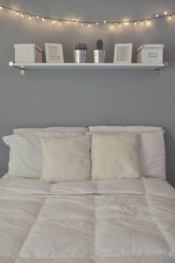 30 tipos de prateleiras para quartos maravilhosas - Wand lichterkette ...